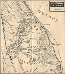 Ortsplan um 1950